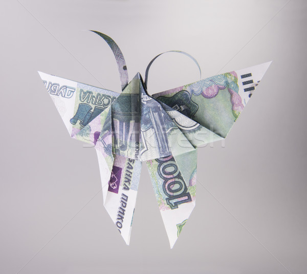 Forme papillons origami papillon sur bâtiment Photo stock © butenkow