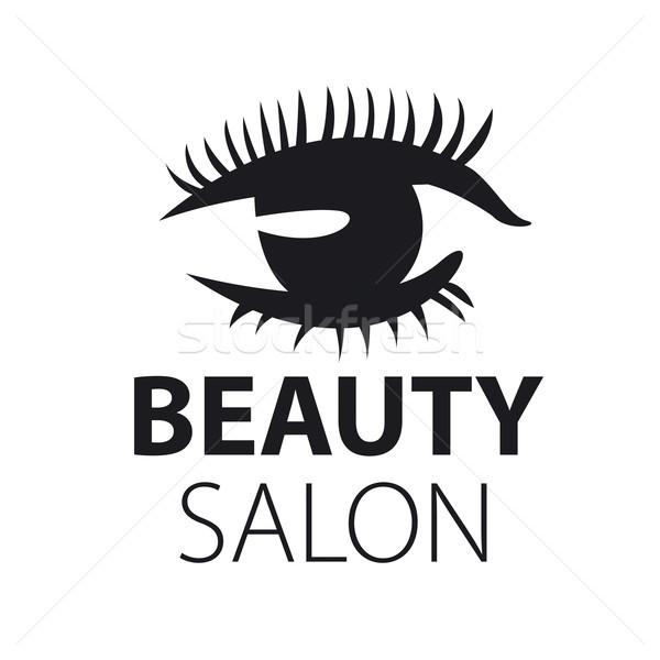vector logo eyes with eyelashes closeup Stock photo © butenkow