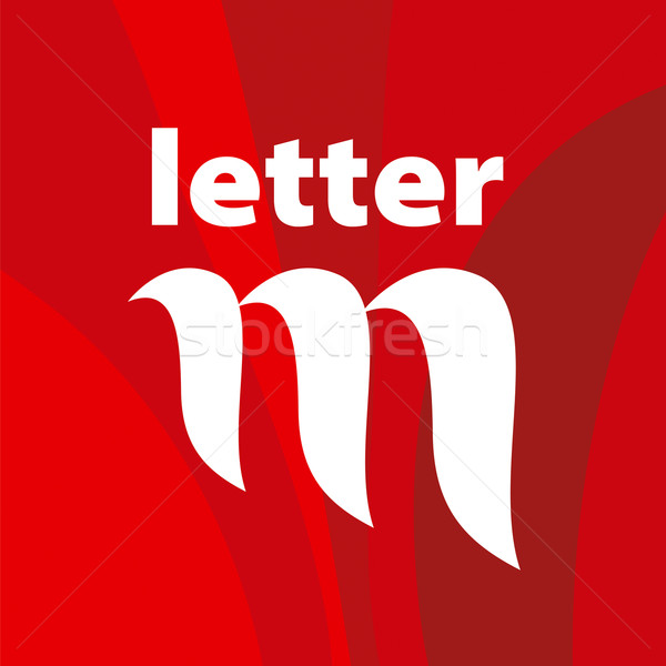 vector logo the letter M on a red background Stock photo © butenkow