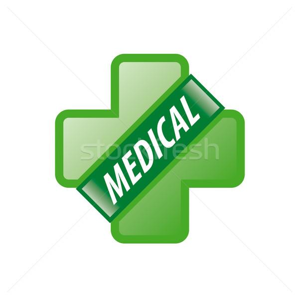 Stok fotoğraf: Vektör · logo · yeşil · çapraz · şerit