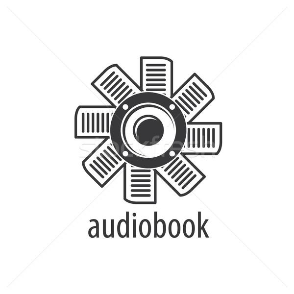 Stock photo: Audiobook. Vector logo template
