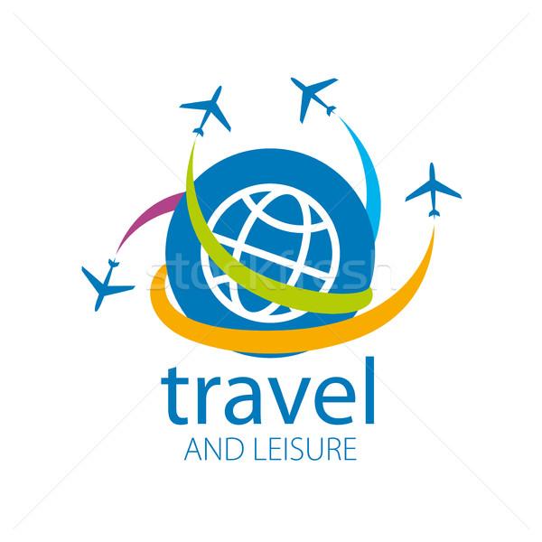Seyahat vektör logo şablon düzlem uçuş Stok fotoğraf © butenkow