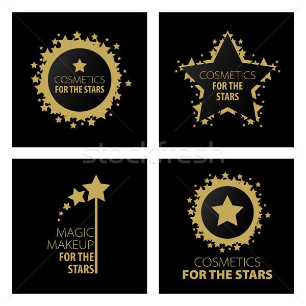 Toplama vektör logolar büyü makyaj Yıldız Stok fotoğraf © butenkow