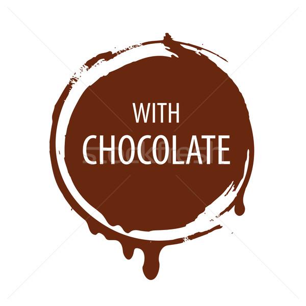 vector logo round seal for chocolate Stock photo © butenkow