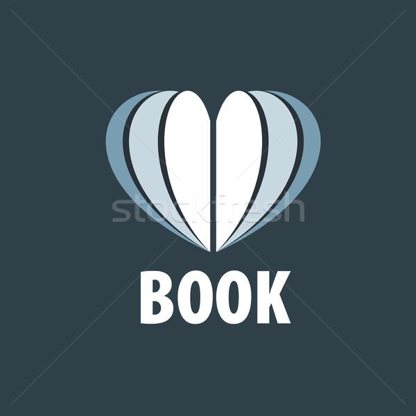 вектора знак книга аннотация логотип книгах Сток-фото © butenkow