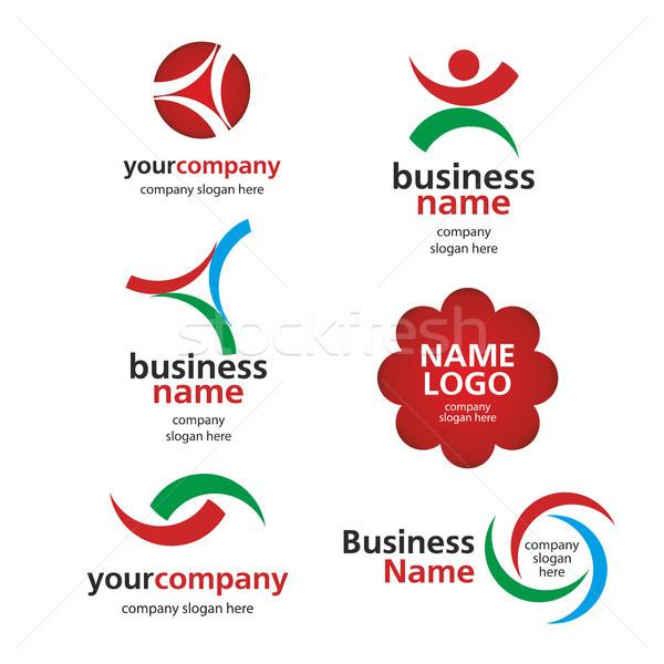 collection of vector logos spektorny Stock photo © butenkow