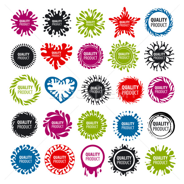 biggest collection of vector logos with blots  Stock photo © butenkow