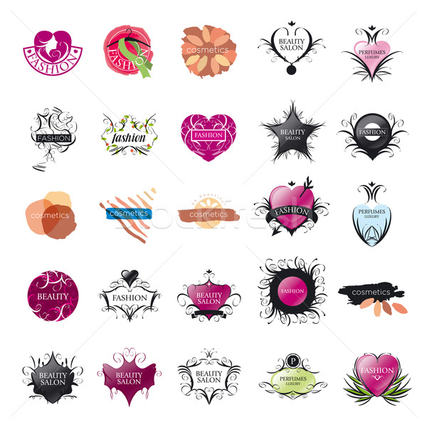 biggest collection of vector logos Fashion and Beauty Stock photo © butenkow