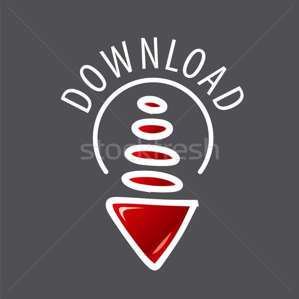 вектора логотип стрелка данные передача бизнеса Сток-фото © butenkow