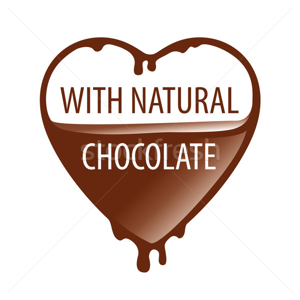 vector logo heart with natural chocolate Stock photo © butenkow