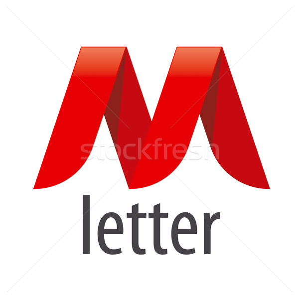 logo red ribbon in the shape of the letter M Stock photo © butenkow