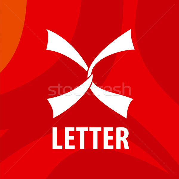 vector logo white ribbons in the form of the letter X Stock photo © butenkow