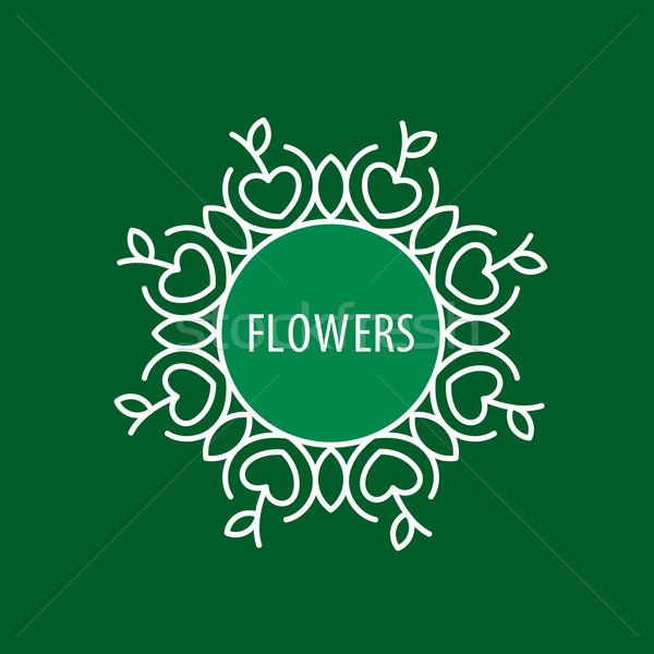 çiçek vektör logo soyut dizayn bitki Stok fotoğraf © butenkow