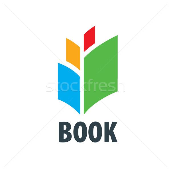 Vektor felirat könyv absztrakt logo könyvek Stock fotó © butenkow