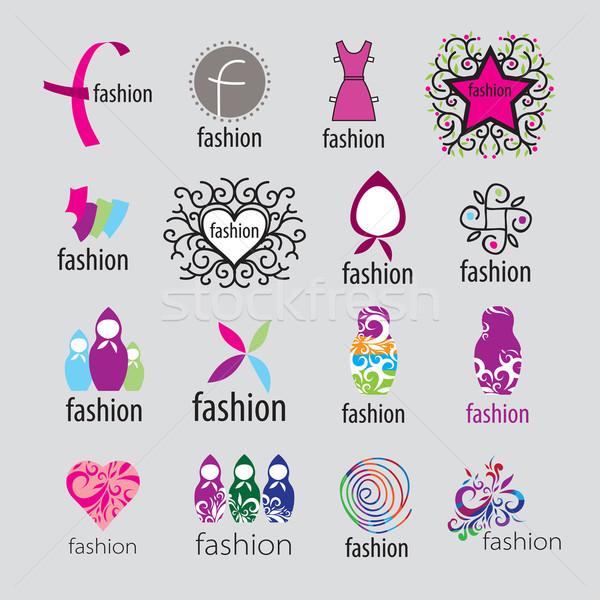 Stok fotoğraf: Toplama · vektör · logolar · moda · giyim