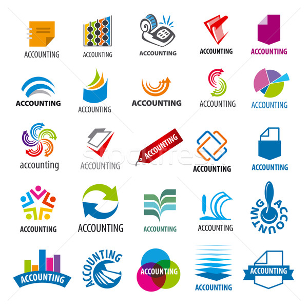 biggest collection of vector logos accounting report Stock photo © butenkow