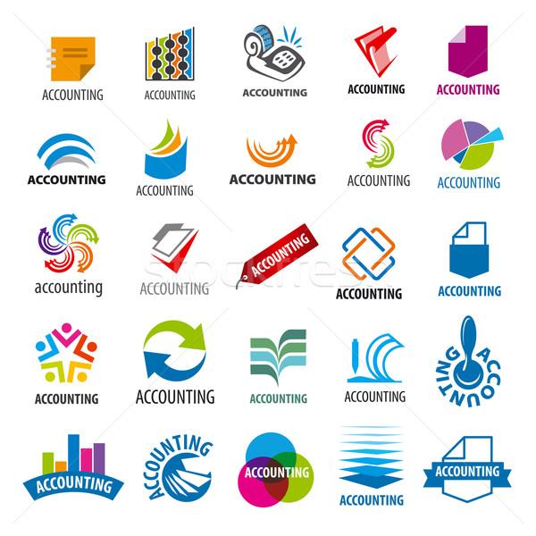 Toplama vektör logolar muhasebe rapor ofis Stok fotoğraf © butenkow