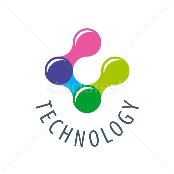 Vetor logotipo tecnologia negócio computador Foto stock © butenkow