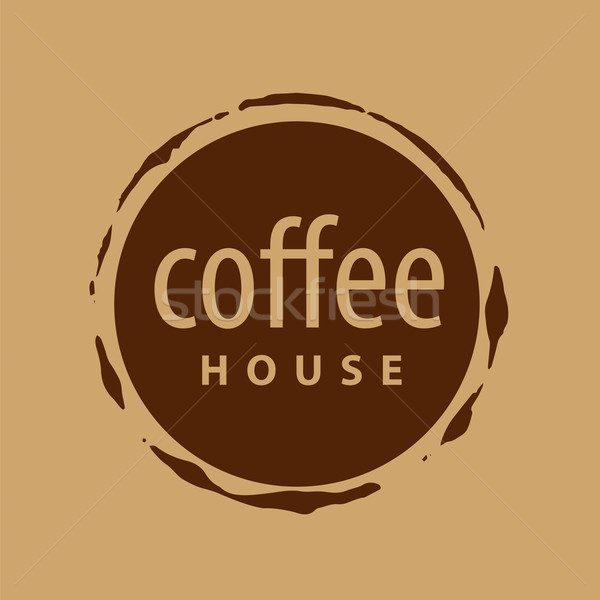 round vector logo imprint of coffee Stock photo © butenkow