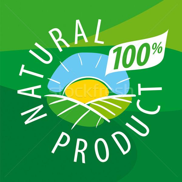 ベクトル ロゴ 生態学的な 風景 自然 製品 ストックフォト © butenkow
