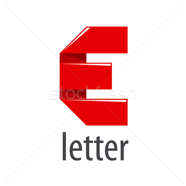 vector logo red tape in the form of letter E Stock photo © butenkow