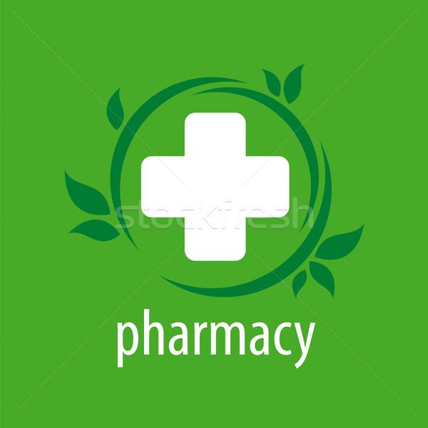 Vektor logo zöld dizájn elem orvos technológia Stock fotó © butenkow