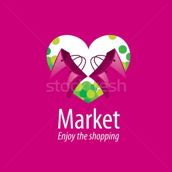 Vektor vásárlás logo sablon fogalmak ötletek Stock fotó © butenkow