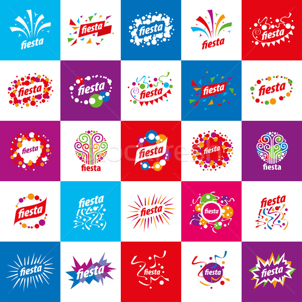 Férias vetor logotipo abstrato design de logotipo festa Foto stock © butenkow