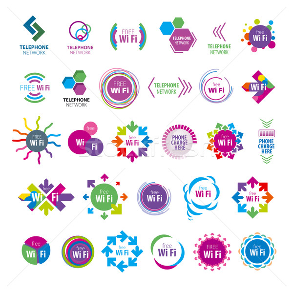 biggest collection of vector logos Wi fi  Stock photo © butenkow