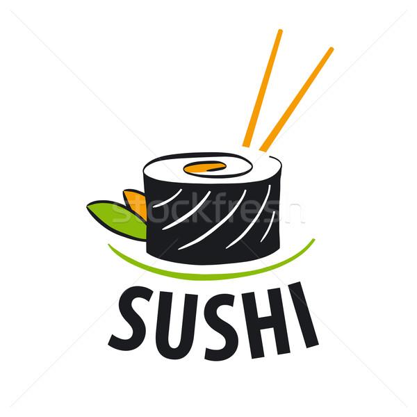 Stock fotó: Vektor · logo · japán · étel · szusi · üzlet · étel