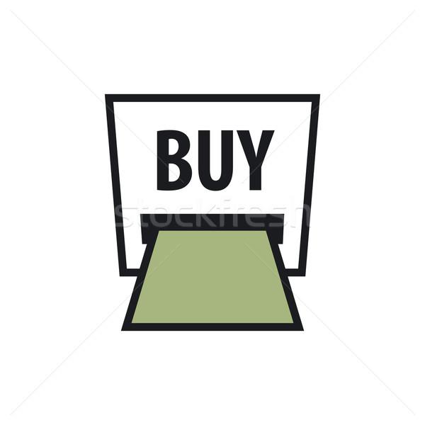 Vector logo bankbiljet atm opschrift kopen Stockfoto © butenkow