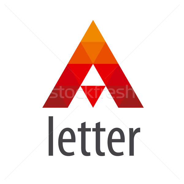 triangular vector logo red letter A Stock photo © butenkow
