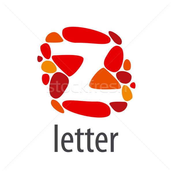 vector logo abstract letter Z of colored stones Stock photo © butenkow