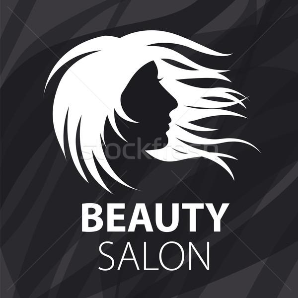 vector logo fluttering female hair Stock photo © butenkow