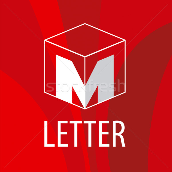 vector logo the letter M in the form of a cube Stock photo © butenkow