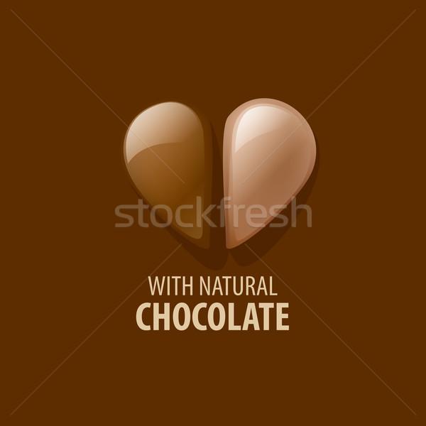 Vetor logotipo chocolate modelo doces comida Foto stock © butenkow