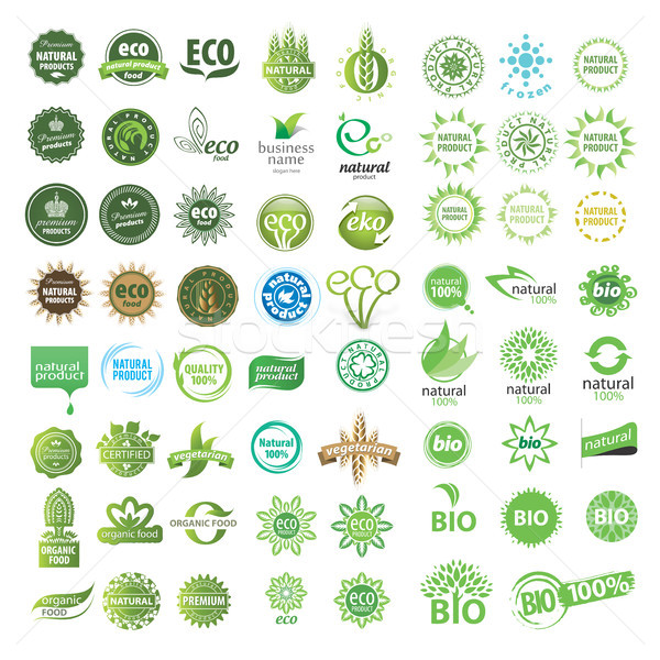 collection of vector eco sign Stock photo © butenkow