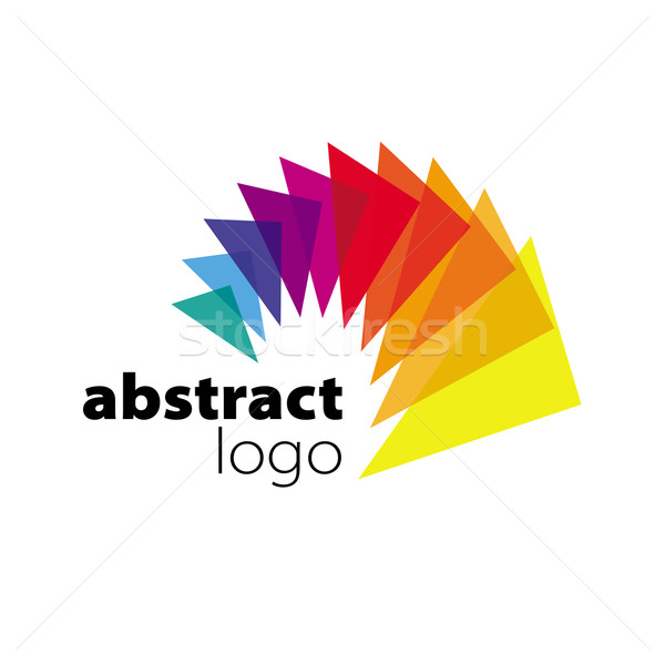 abstract vector logo spectrum curved sheets Stock photo © butenkow