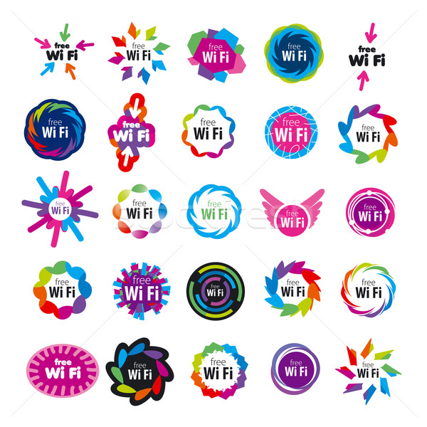 biggest series of vector logos Wi fi  Stock photo © butenkow