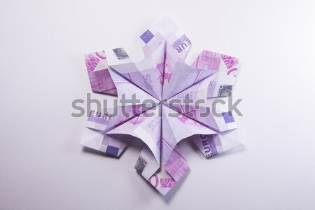sign EU origami of five hundred euro banknotes Stock photo © butenkow