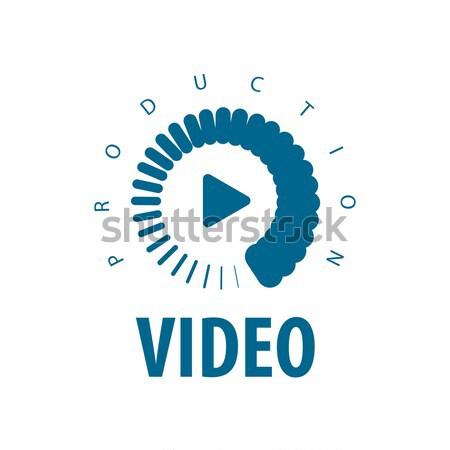 Stockfoto: Vector · logo · lens · film · cirkel · business
