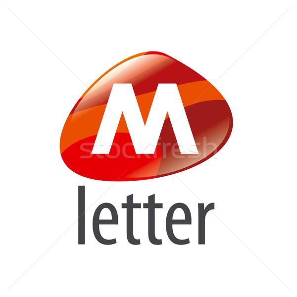 Vektör logo soyut form mektup m sanat Stok fotoğraf © butenkow