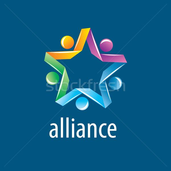 Menschlichen Allianz logo abstrakten Vektor Union Stock foto © butenkow