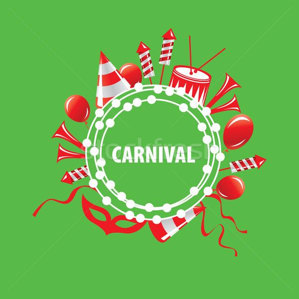 Carnaval vector logo resumen plantilla festival Foto stock © butenkow