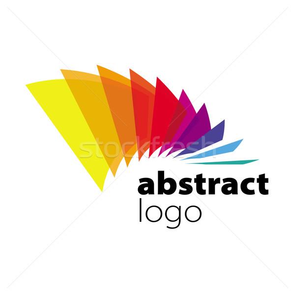 Absztrakt vektor logo spektrum terv levél Stock fotó © butenkow