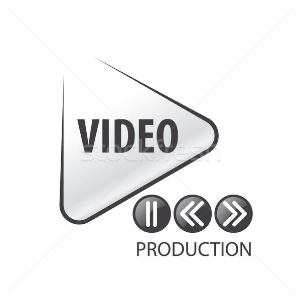 Stockfoto: Vector · logo · vorm · spelen · knop · abstract