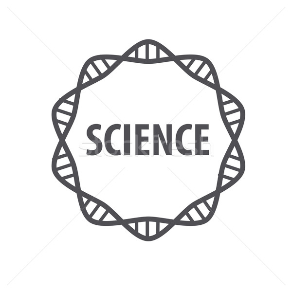 Round vector logo DNA science Stock photo © butenkow