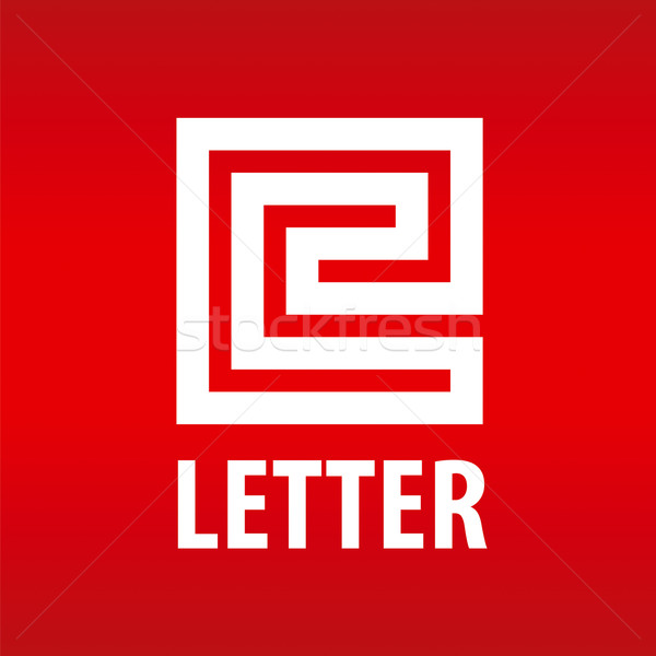 vector logo letter E in the form of a labyrinth Stock photo © butenkow