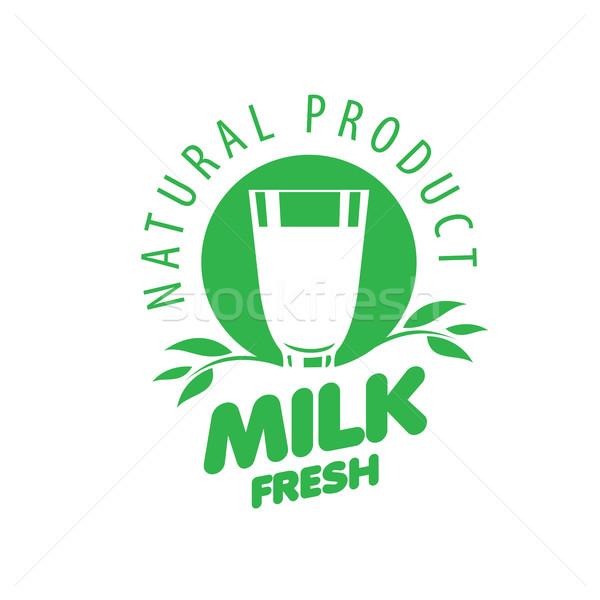 Vector melk logo universeel grafische natuurlijke Stockfoto © butenkow