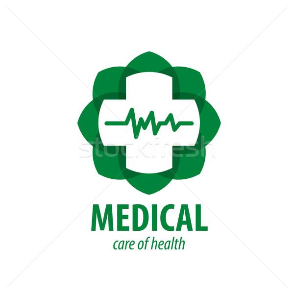 ストックフォト: ベクトル · ロゴ · 医療 · クロス · 薬 · 薬局